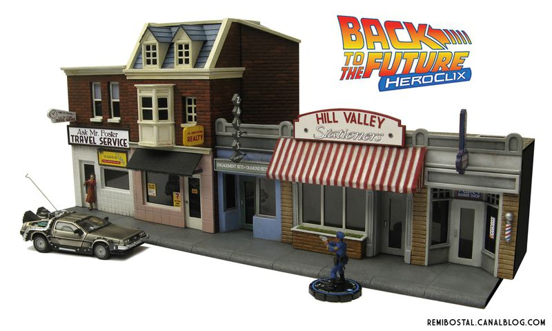 Hill Valley main street back to the future bttf heroclix remi bostal scenery miniature (2)