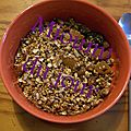 Granola réconfortant