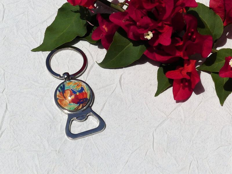 bijoux colores made in guyane par louise indigo fleurs oranges (6)