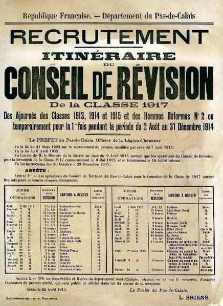 Conseil de revision cl 1917