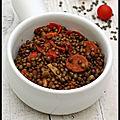lentilles vertes du puy poivrons tomates chorizo
