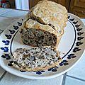 Cake aux noix et aux champignons