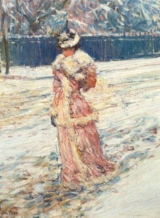 Childe Hassam Dame en rose