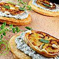 Galettes aubergine, chèvre et pesto de menthe