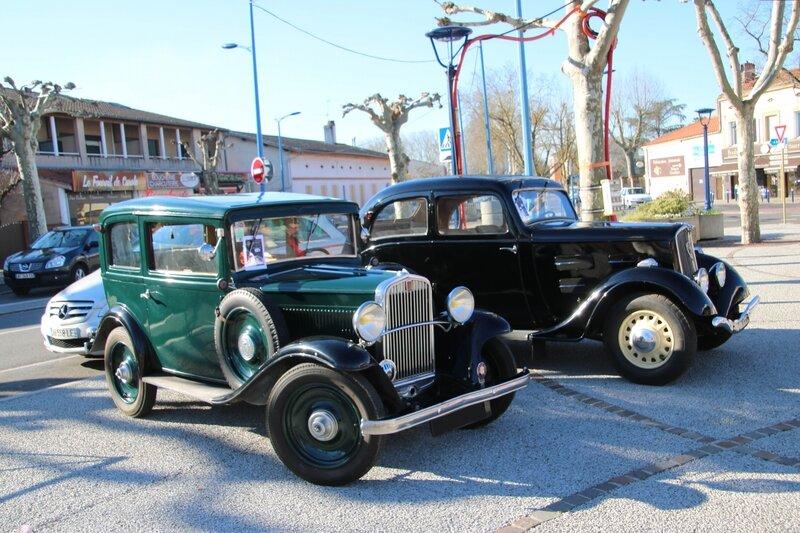 Fiat Balilla et Peugeot 201