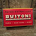 Ancienne boite carton publicitaire pâtes buitoni