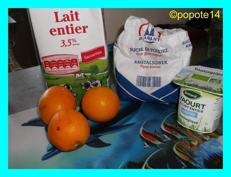 ingrédients yaourts aux citron