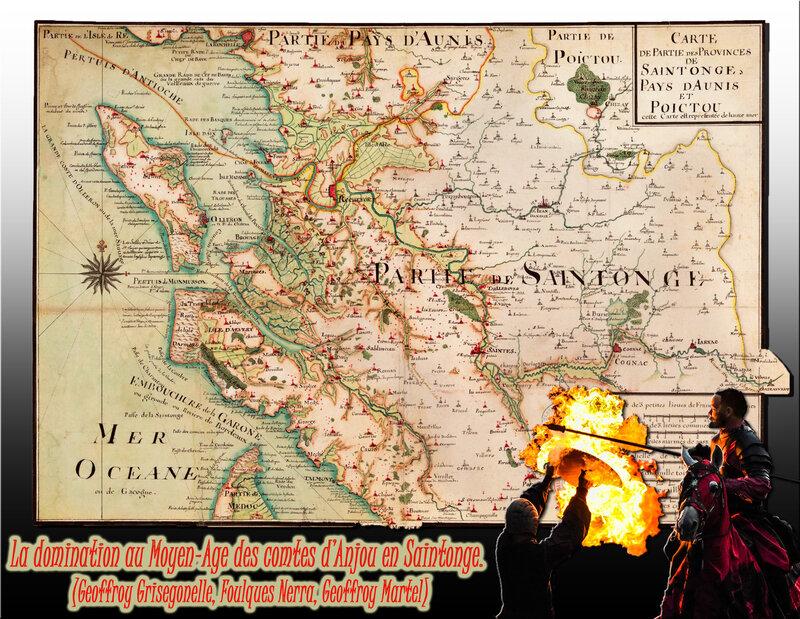 La domination au Moyen-Age des comtes d'Anjou en Saintonge