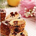 Muffins au flocons d'avoine, pomme, raisins secs, figues, sirop de fleur de coco....
