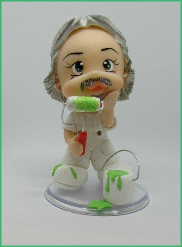 caricature personnage en porcelaine froide