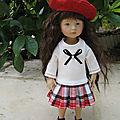 Robe écossaise pour boneka