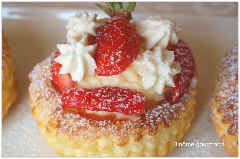 Feuilleté aux fraises