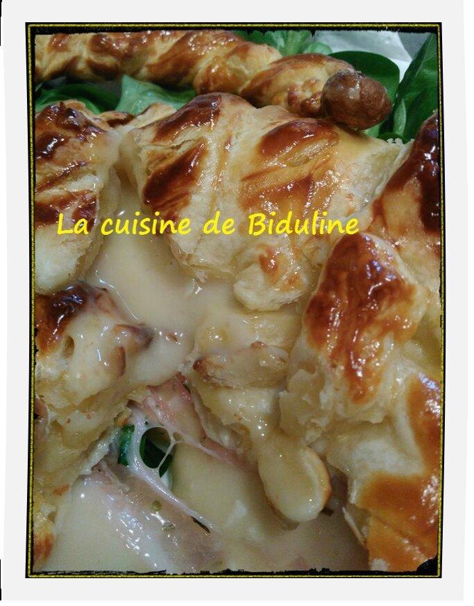 Mon panier feuilleté au camembert et au lard fumé - La cuisine de Biduline