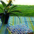 Dessous de plat aux couleurs de l'été