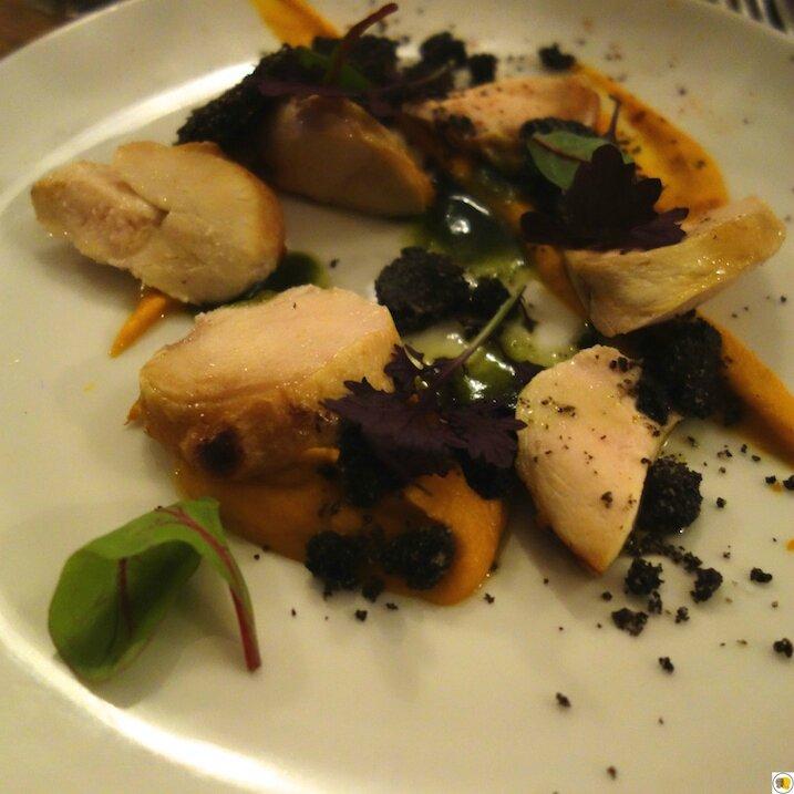 Poulet & crumble d'olives noires