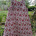 Robe trapèze fleurs rose 6 ans