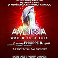 Amnesia world tour 2013 au myah bay marrakech