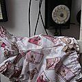 Culotte BIANCA en coton blanc imprimé timbre oiseau rose et beige - noeud de vichy beige (3)