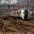 N'EX leaving Yokohama eki