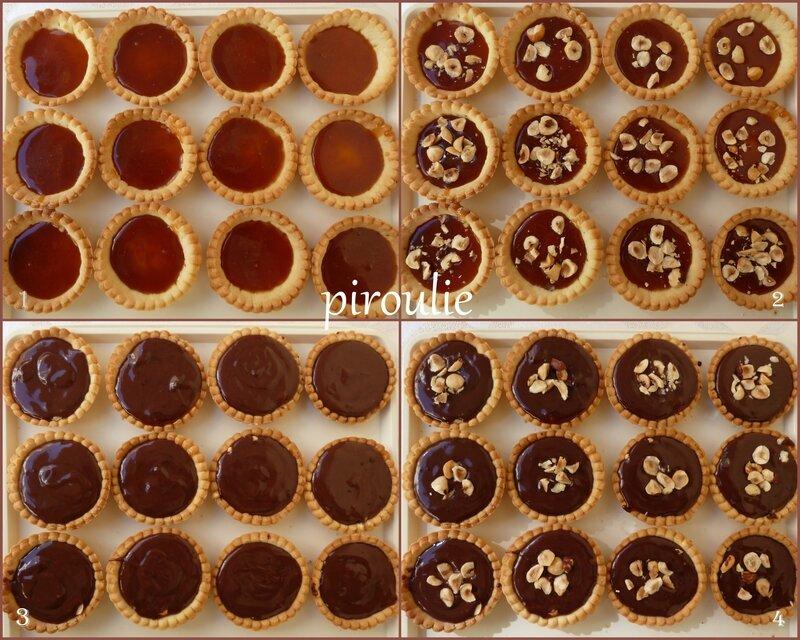 tartelettes caramel chocolat