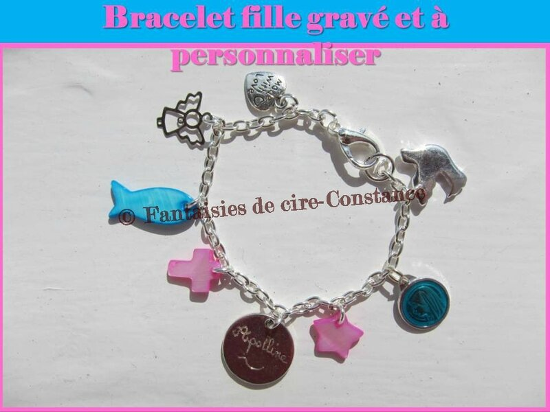 bracelet gravé Apolline