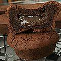 Moelleux au chocolat et à la crème de marrons