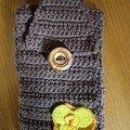 pochette de portable au crochet pour Martine
