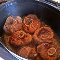 Jarret début de cuisson
