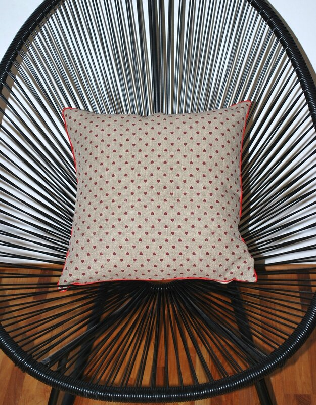 coussin coeur lin by patchoulette situation