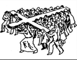Christ humanité porte la croix