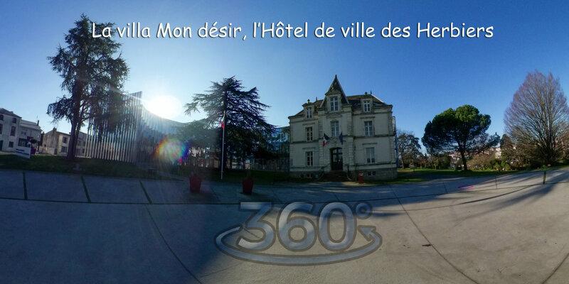 La villa Mon désir, l'Hôtel de ville des Herbiers