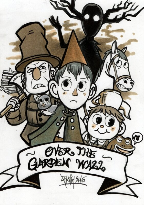 over the garden wall fanart writ greg the unkown cartoon network djiguito chocoblog de djigui