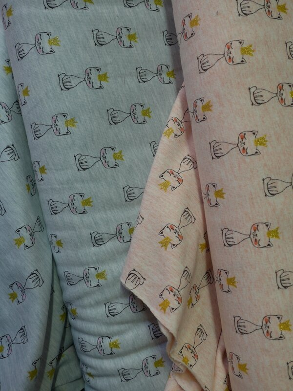tissu jersey imprimé chats