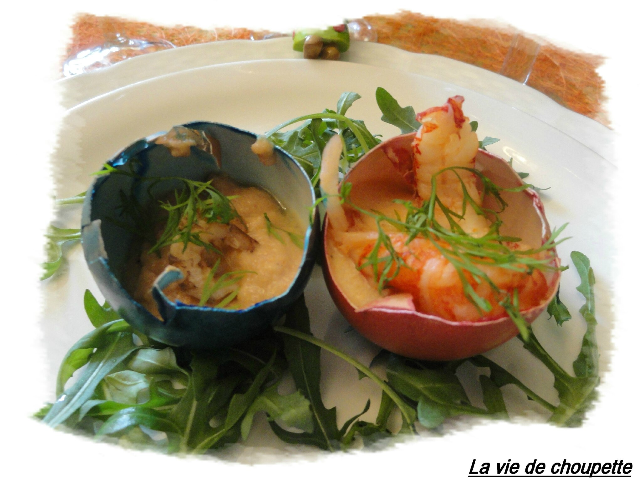 MOUSSES DE CRUSTACES EN COQUILLES