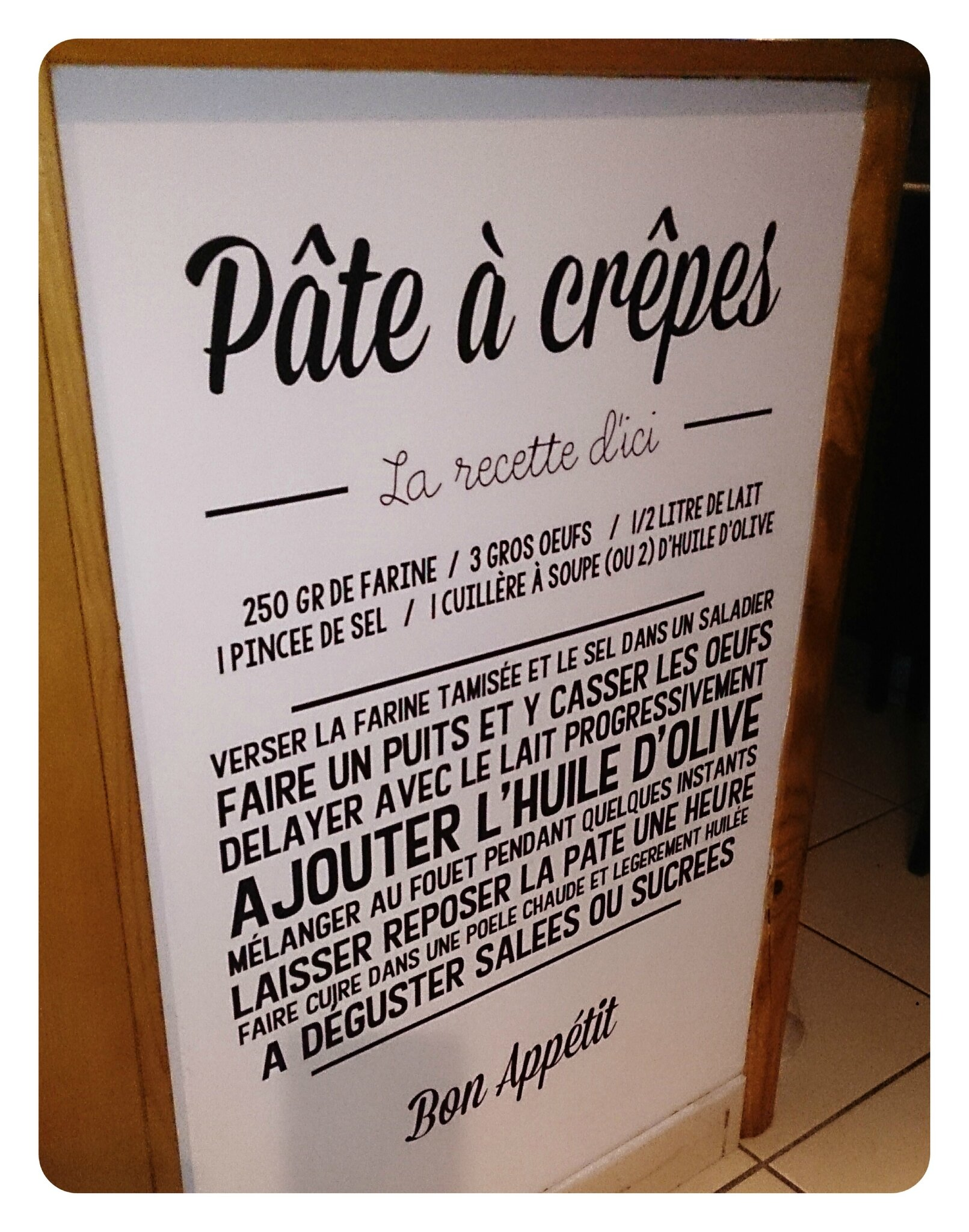 Stickers Recette Pate A Crepes Sc Creations