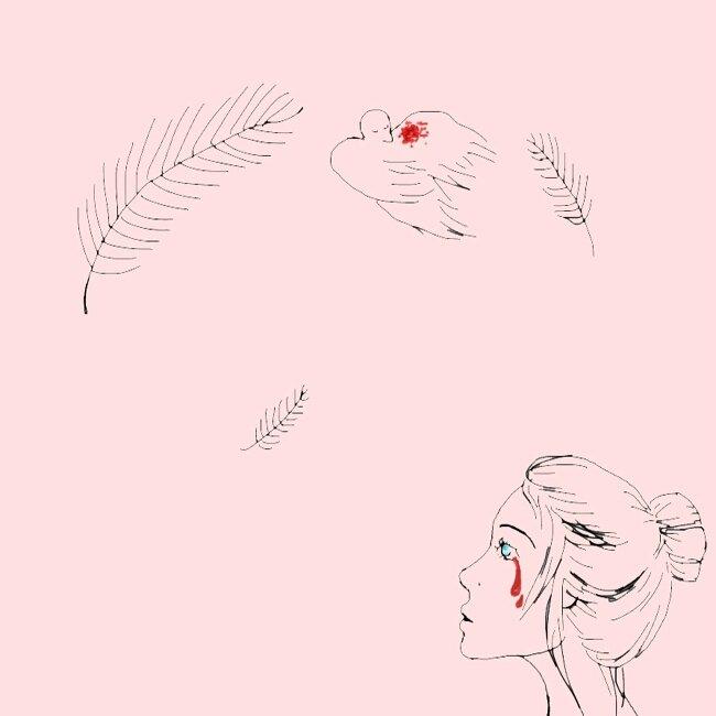 la chute de l'oiseau