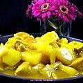 Curry de poulet express aux pommes et ananas