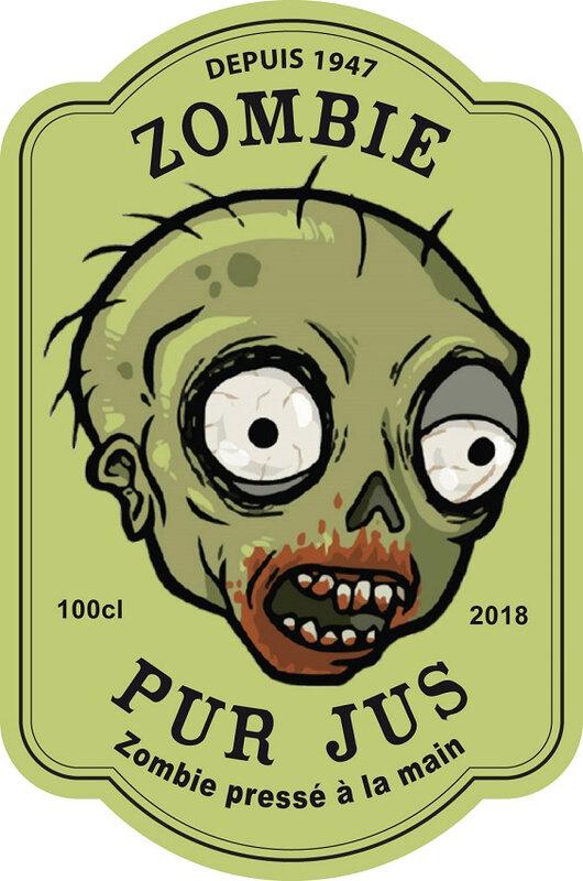 étiquette zombie pur jus