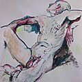dessin peinture tableau de nu homme modèle vivant (23)