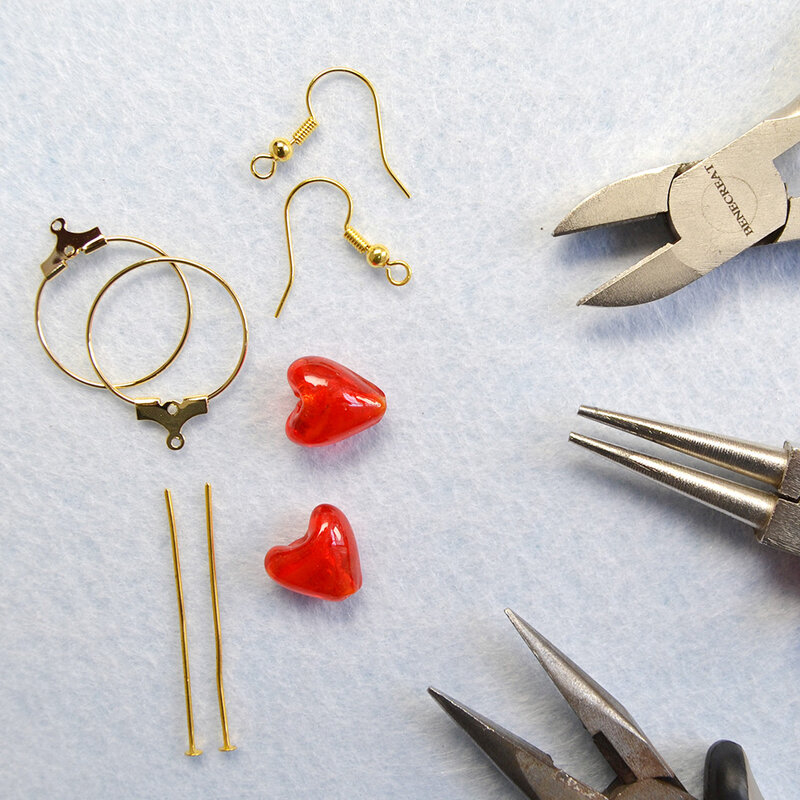 PandaHall-Ideas-on-Making-Heart-Gemstone-Earrings-1