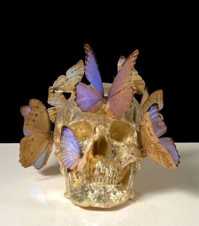 Philippe Pasqua (né en 1965), Crâne-papillons. Photo Artcurial