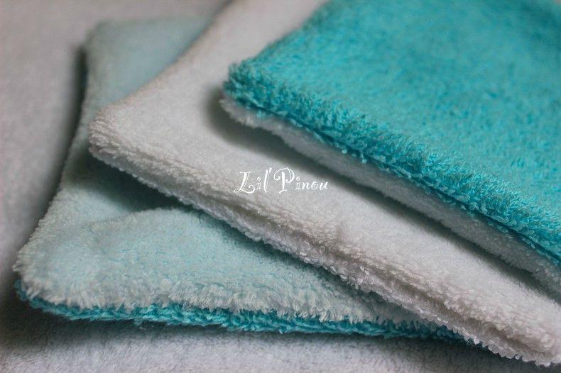 Lingettes turquoise/ciel