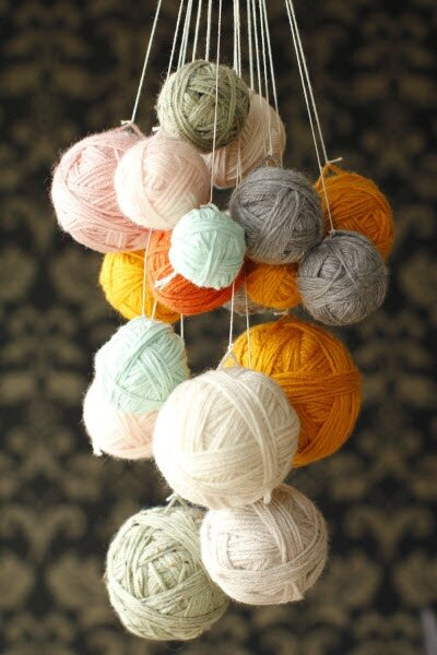 yarn-chandelier-beauty BY diy yarn