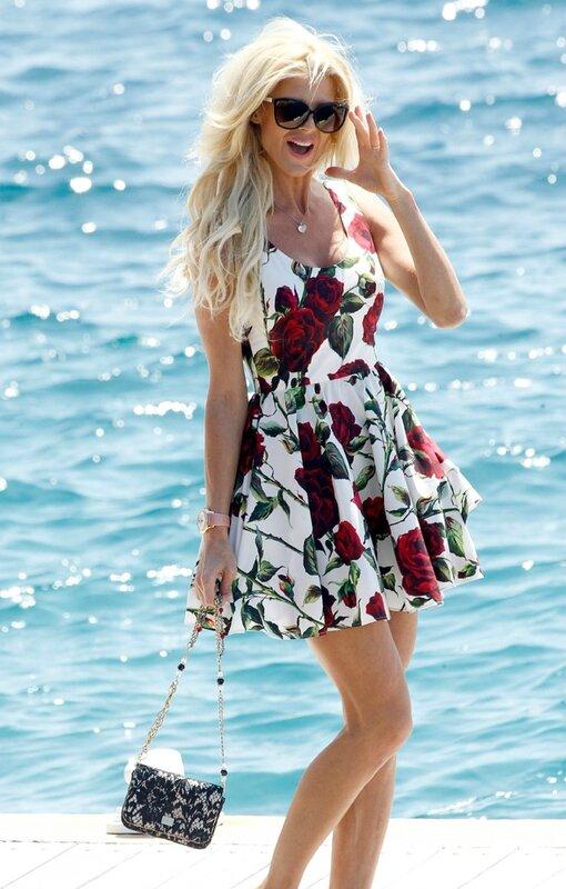 Victoria Silvstedt en Dolce et Gabbana