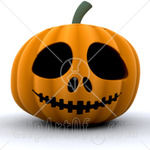 22191_Clipart_Picture_Of_A_Spooky_Orange_Carved_Halloween_Pumpkin_With_Big_Eyes_Nostrils_And_A_Sewn_Mouth