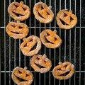 Recette de sorcière : jack- o - lanterns croquants : patates douces,crème de spéculoos, cannelle et cassonade