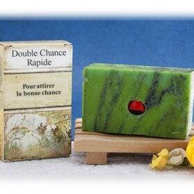 SAVON DOUBLE CHANCE, savon de chance magique