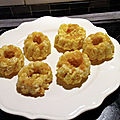 Mini gâteaux de riz au lait de coco safrané