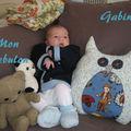 Gabin et son coussin Hibou