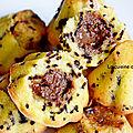 Muffin au coeur caramel au beurre salé, sans farine